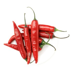 Plate of Red Chili Peppers